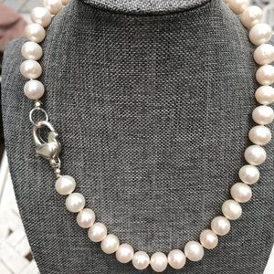 Beautiful Freshwater Pearl knotted Necklace